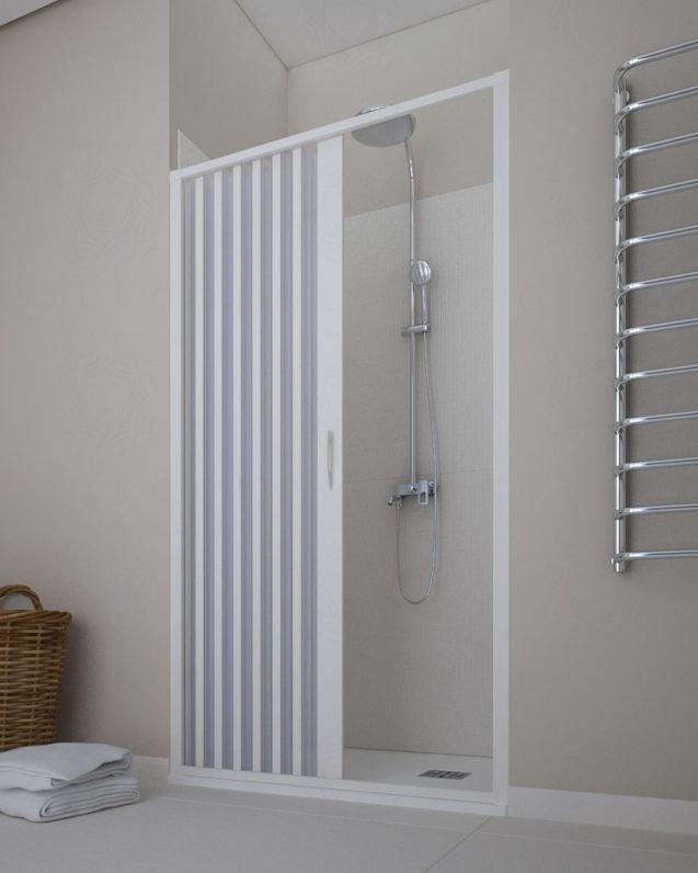 Box doccia nicchia pvc bianco, cm.100