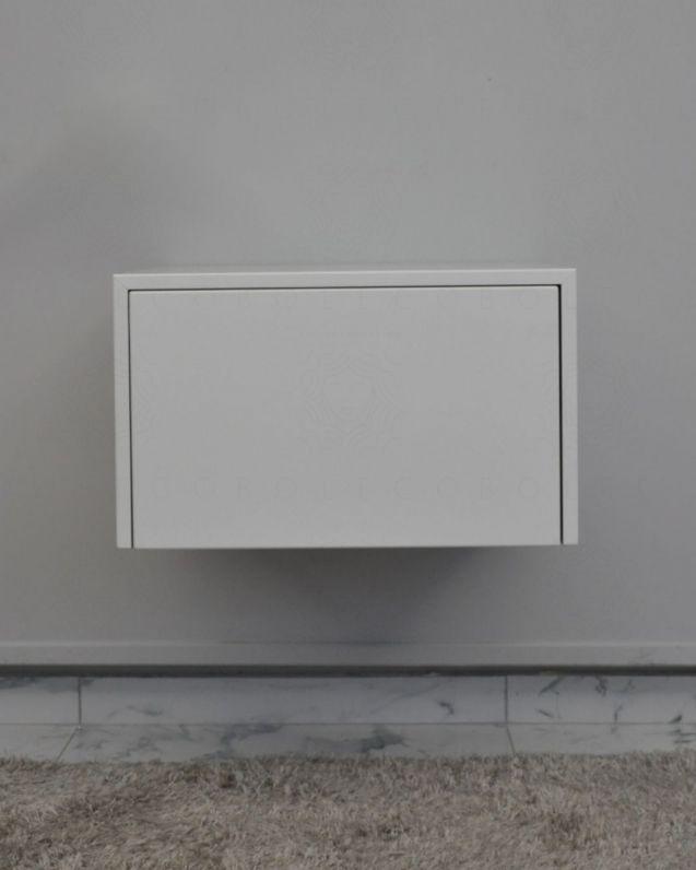 Cassettiera sospesa bianco opaco cm.50, push-pull, per