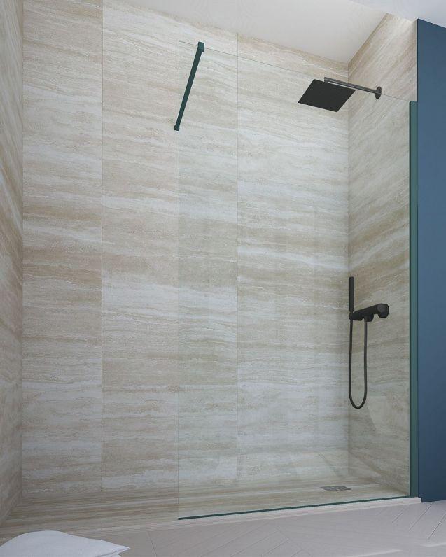 Box doccia walk in, cristallo temperato, cm.100, colorato