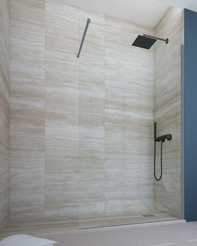 Box doccia walk in, cristallo temperato, cm.110, colorato
