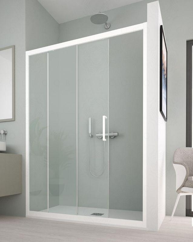 Box doccia nicchia, cristallo temperato, cm.100, colorato