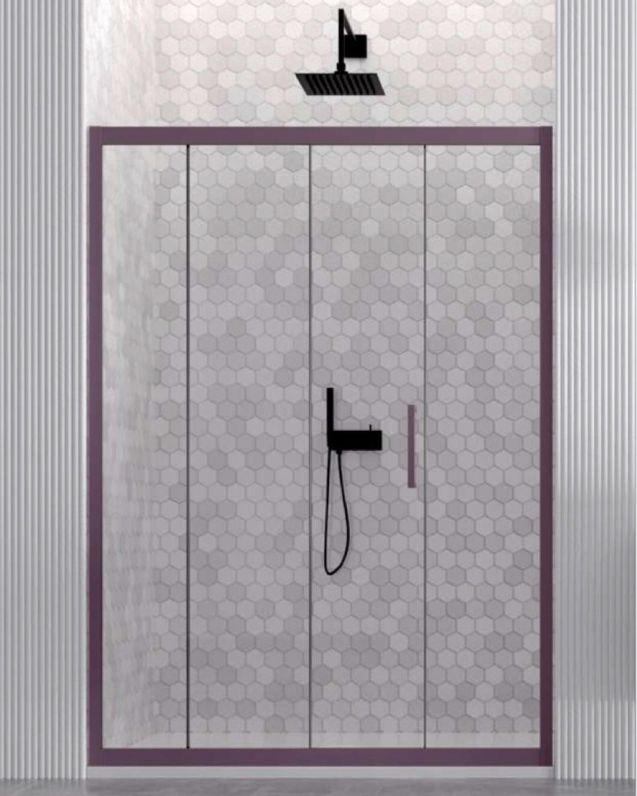 Box doccia nicchia, cristallo temperato, cm.130, colorato