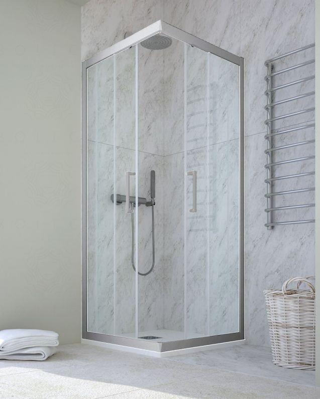 Box doccia quadrato cristallo temperato, cm.120x120, colorato
