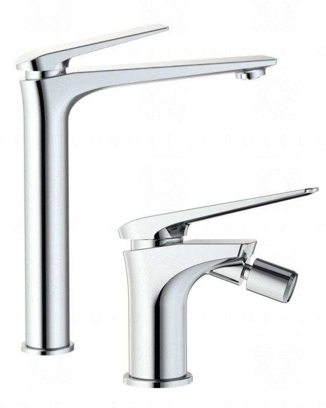 Coppia rubinetti lavabo alto e bidet Elettra