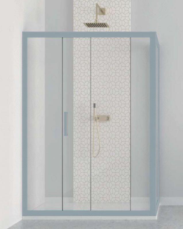 Box doccia nicchia cm 100 con anta fissa cm 80, vetro