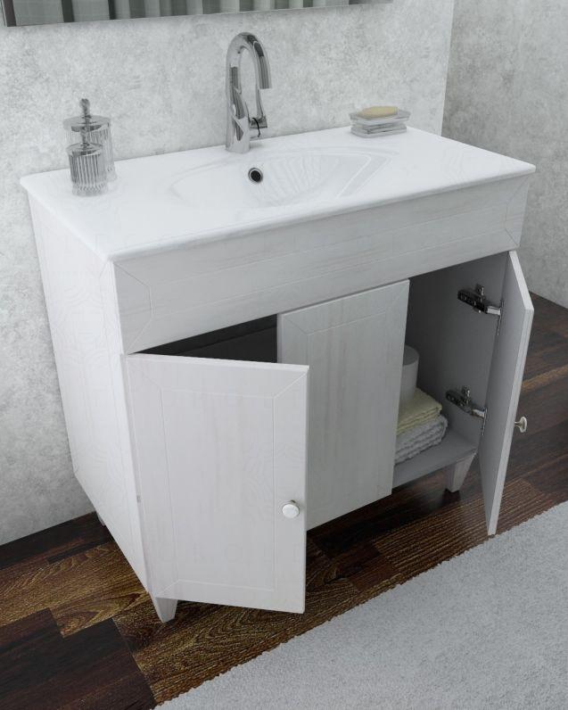 Mobile bagno Alice decape con piedi, cm.90 e specchio