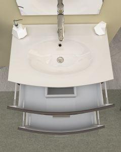 Mobile bagno sospeso Flavia rovere moro, cm.74 completo di