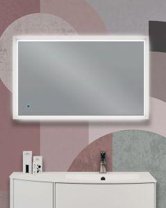 Specchio led bianco opaco con sensore touch, cm.90x55