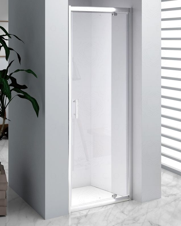 Box doccia nicchia vetro temperato 6 mm, cm.80