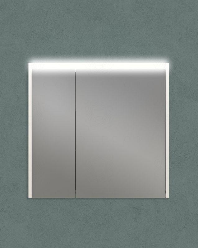 Specchio contenitore con presa ed interruttore, cm.70x67