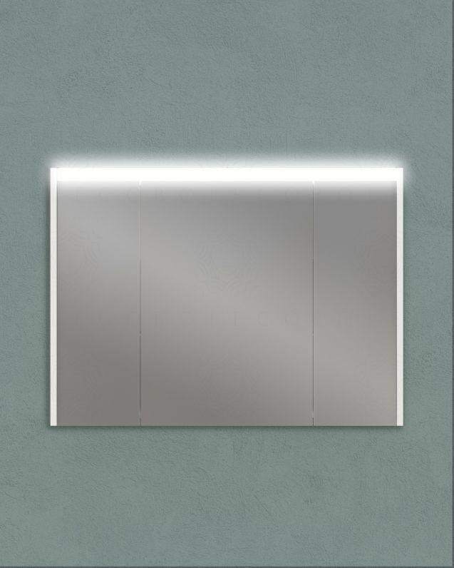 Specchio contenitore con presa ed interruttore, cm.92x67