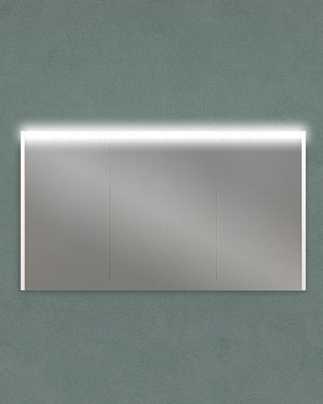 Specchio contenitore con presa ed interruttore, cm.120x67