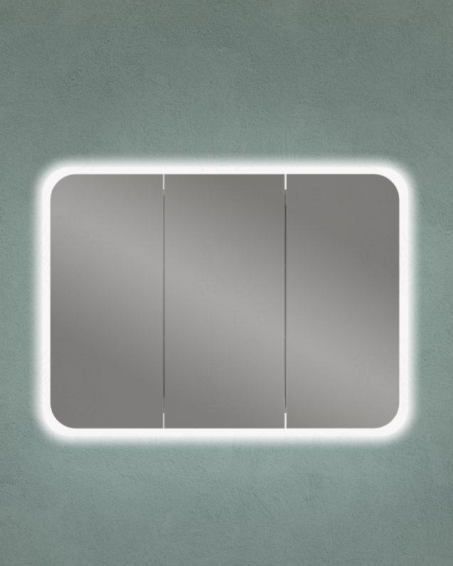 Specchio contenitore mobile bagno con presa ed interruttore