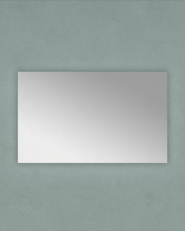 Specchio rettangolare, cm.55x90 reversibile