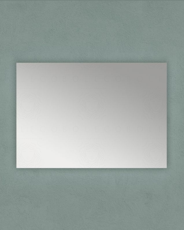 Specchio rettangolare, cm.100x70 reversibile