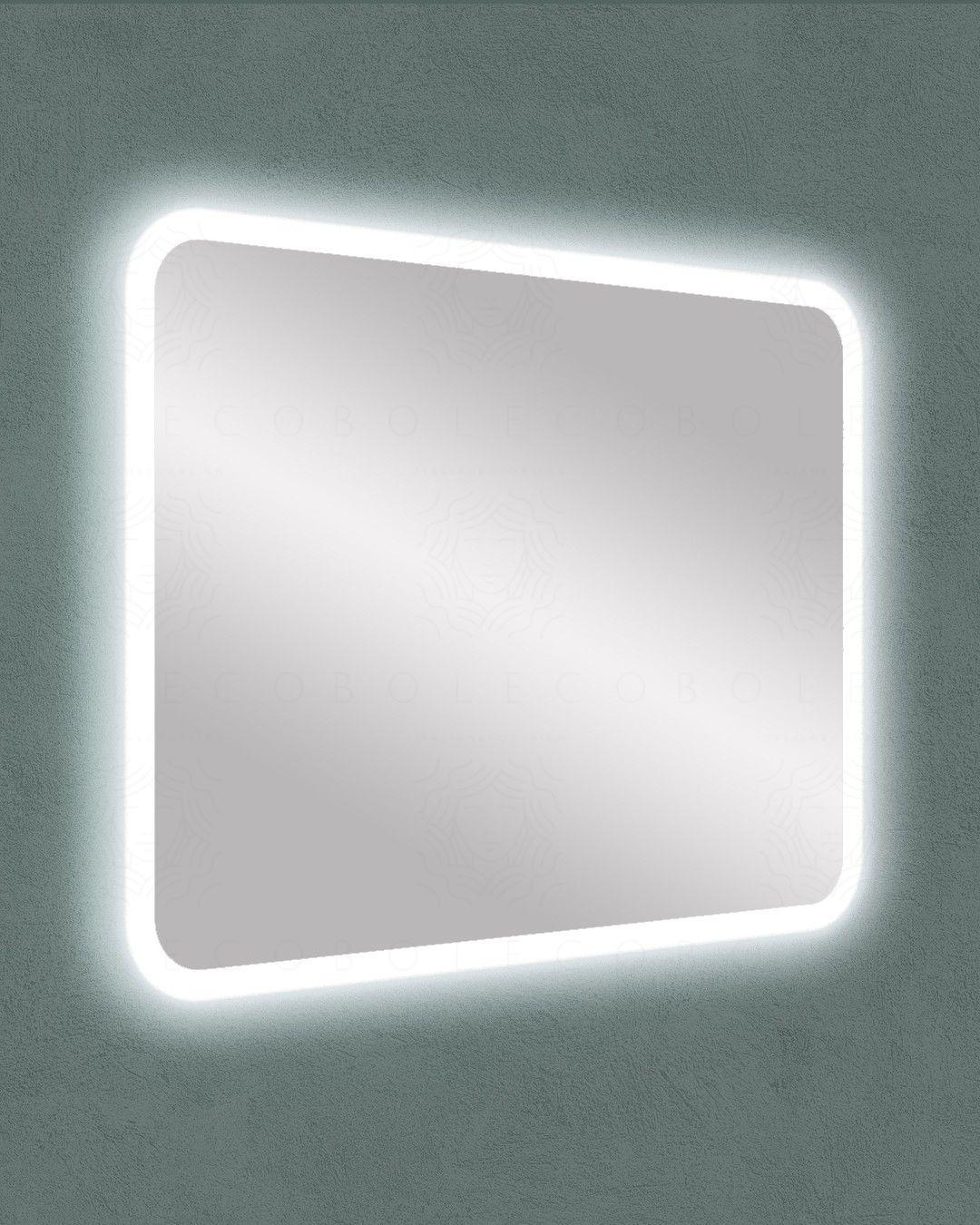 Specchio led con anti-appannamento, cm.95x70