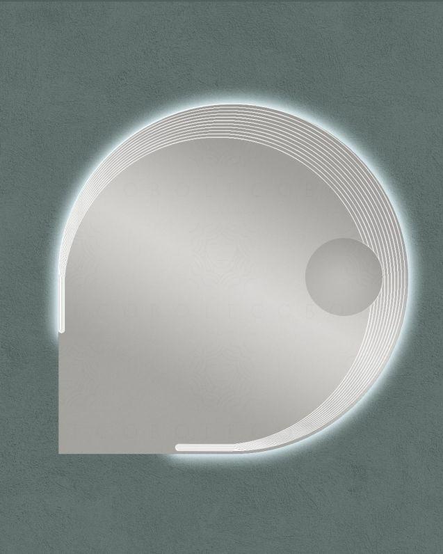 Specchio led con ingranditore, cm.90x90