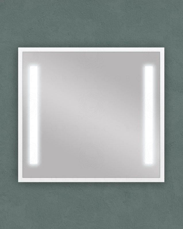 Specchio led bianco opaco con anti-appannamento, cm.98x90