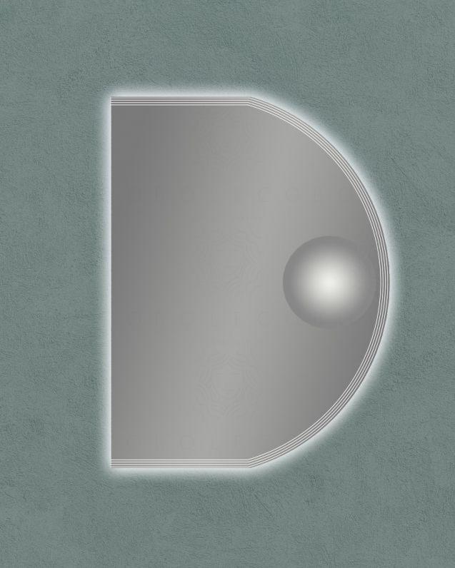 Specchio led con ingranditore, cm.60x80
