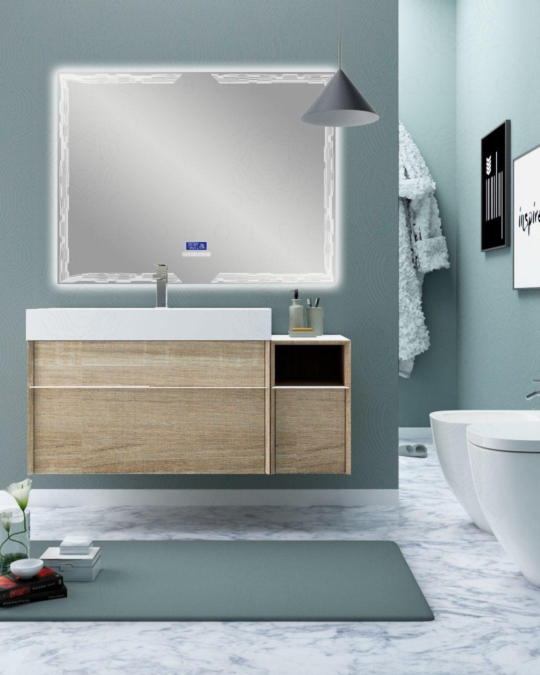 Mobile bagno sospeso Diadema cm.120 con specchio led