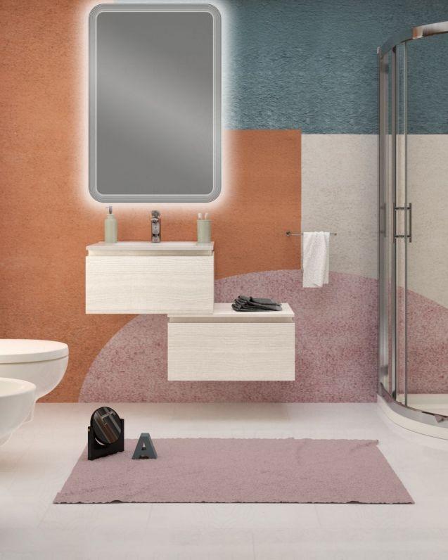 Mobile bagno sospeso Giava con cassettiera, cm.90