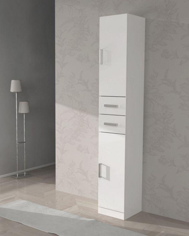 Colonna bagno Eva bianco lucido, cm.30x190