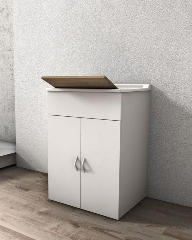 Mobile lavatoio bianco cm.60