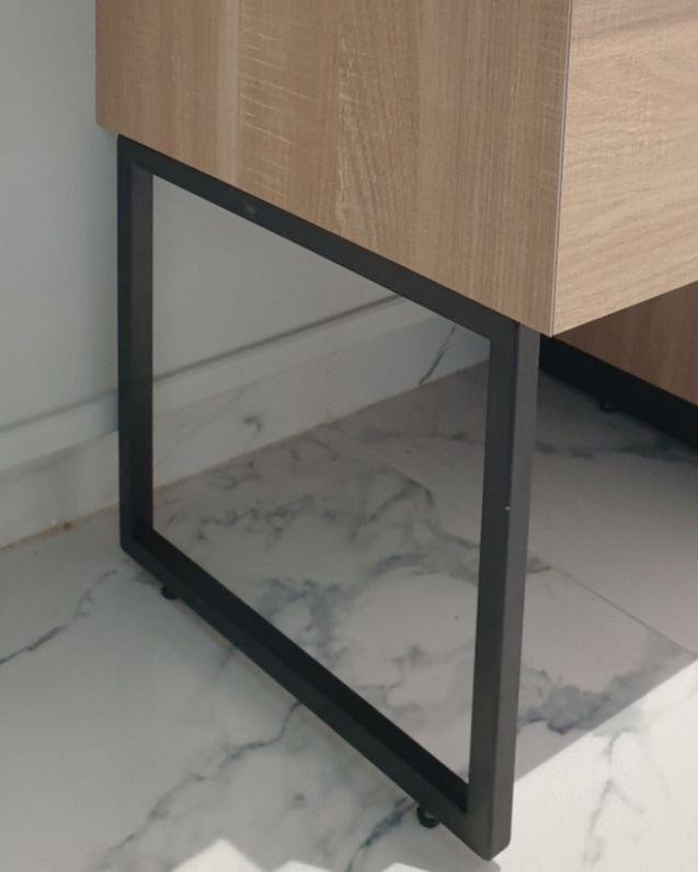 Piede nero opaco per mobile bagno, cm.40x34