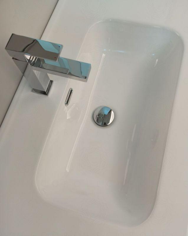 Mobile bagno sospeso Viola cm.74 completo di specchio