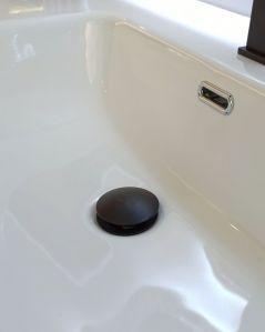 Mobile bagno Carlotta larice bianco con piedi, cm. 100 completo