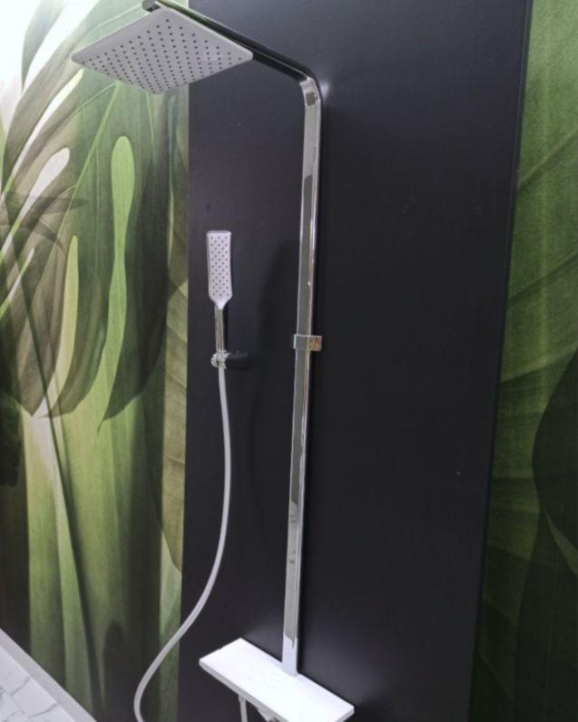 Colonna doccia Cecilia, cromo, completa di soffione, doccino e