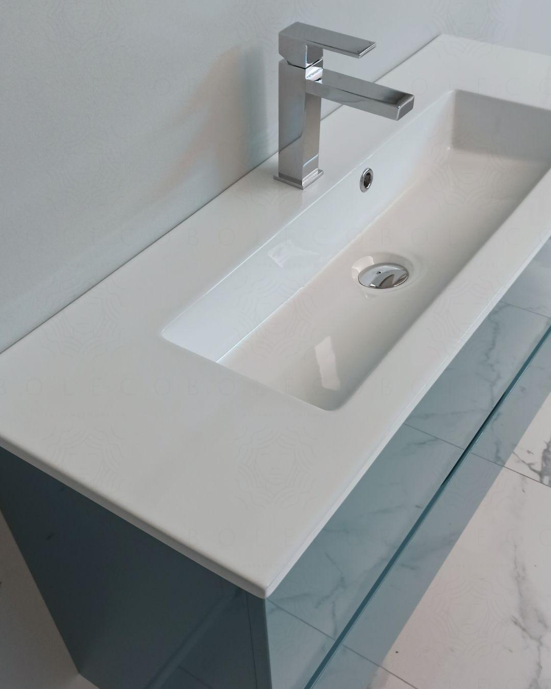 Mobile Bagno Sospeso Perla Cm 100 Profondita Ridotta Boleco