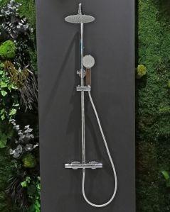 Colonna doccia Gaia termostatica, cromo, completa di soffione e