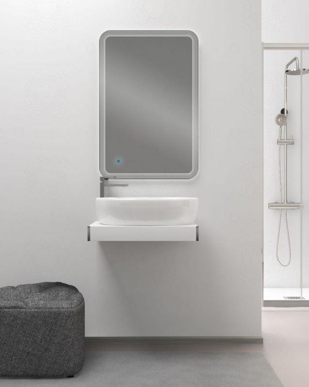 Mensolone bagno cm.60 completo di staffe regolabili e lavabo in