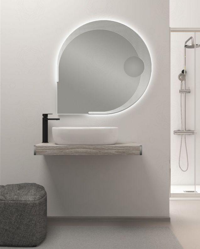 Mensolone bagno cm.90 completo di staffe regolabili e lavabo in