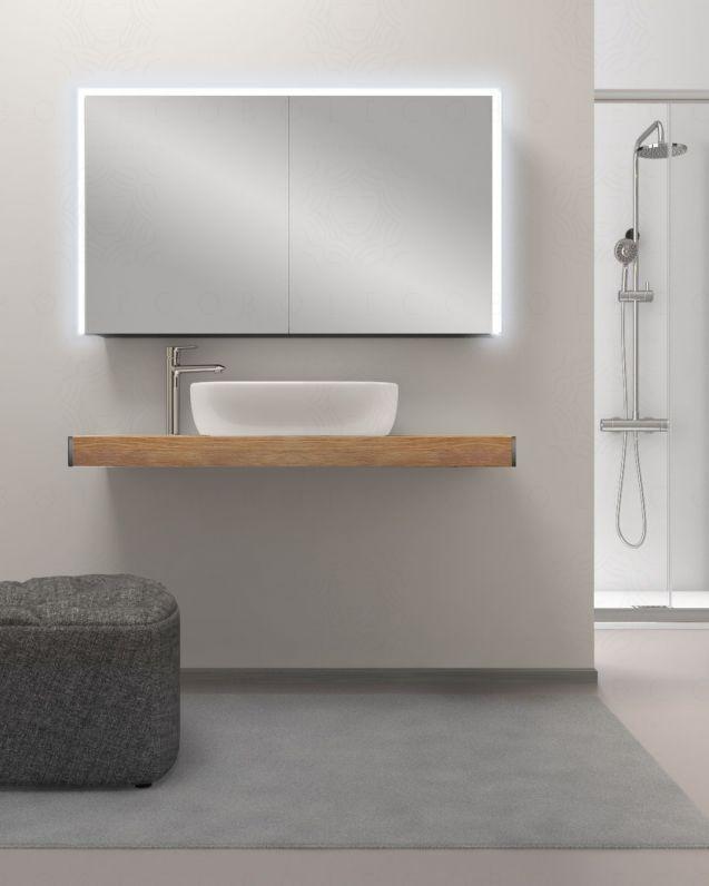 Mensolone bagno cm.120 completo di staffe regolabili e lavabo