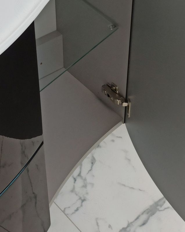 Mobile bagno sospeso Jane, curvo, cm.104
