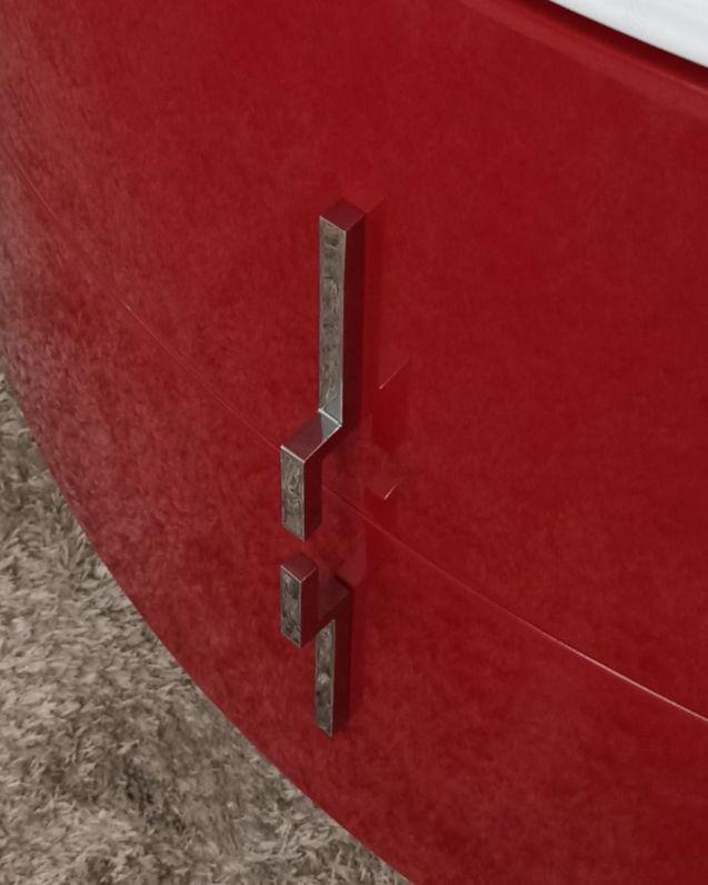 Mobile bagno sospeso Jane, curvo, cm.138