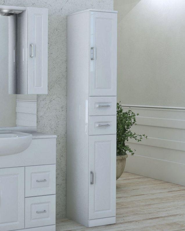 Colonna bagno Claudia bianco lucido, cm.30x190