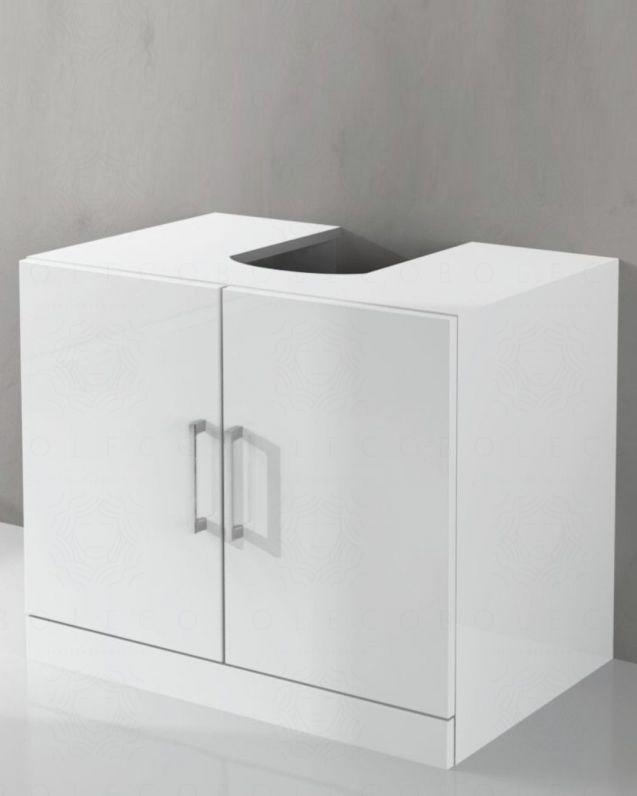 Copricolonna bagno bianco lucido, cm. 70