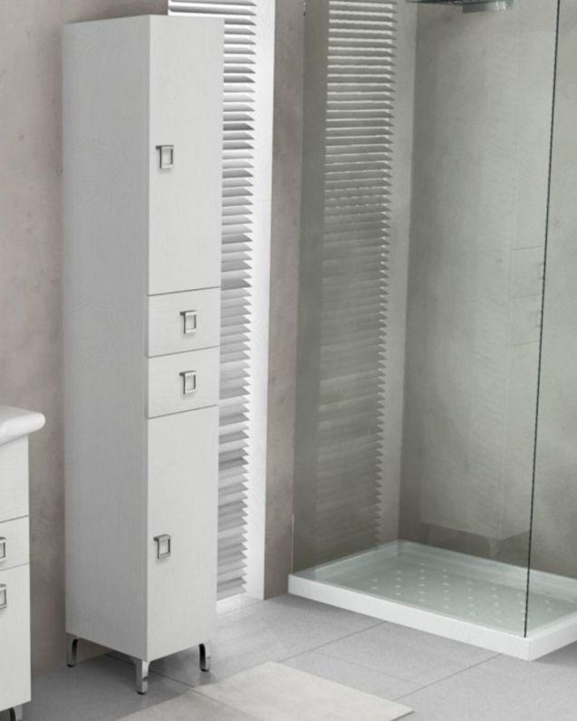 Colonna bagno Sofia larice bianco con piedi, cm.30x190