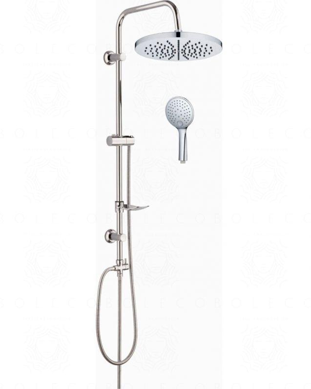 Colonna doccia Cristina cromo, completa di soffione, doccino e