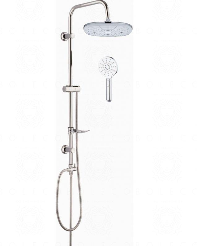 Colonna doccia Linda cromo, completa di soffione, doccino e