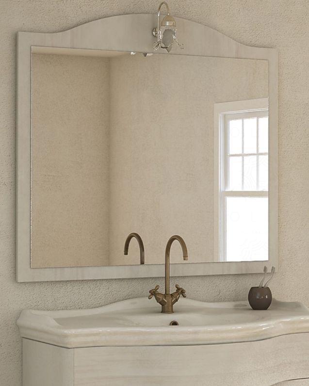 Specchio con applique per mobile Donatello