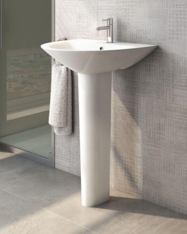 Lavabo bagno Morning con colonna, cm.65