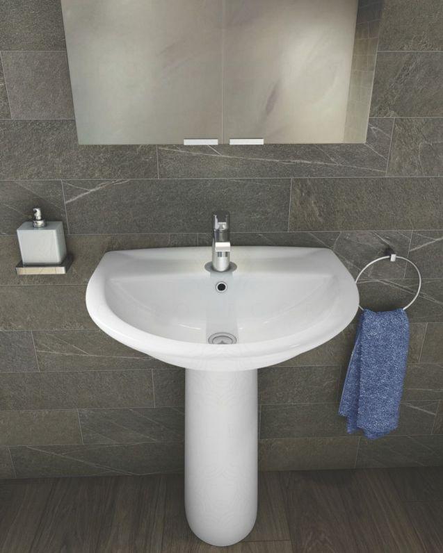 Lavabo bagno Karla con colonna, cm.50