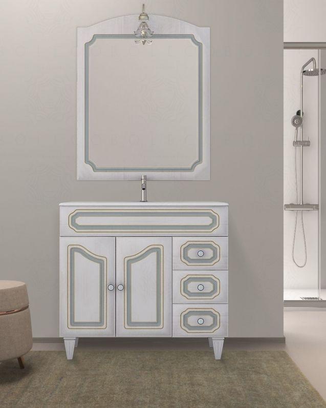 Mobile bagno Picasso decape cm.90 con lavabo in ceramica