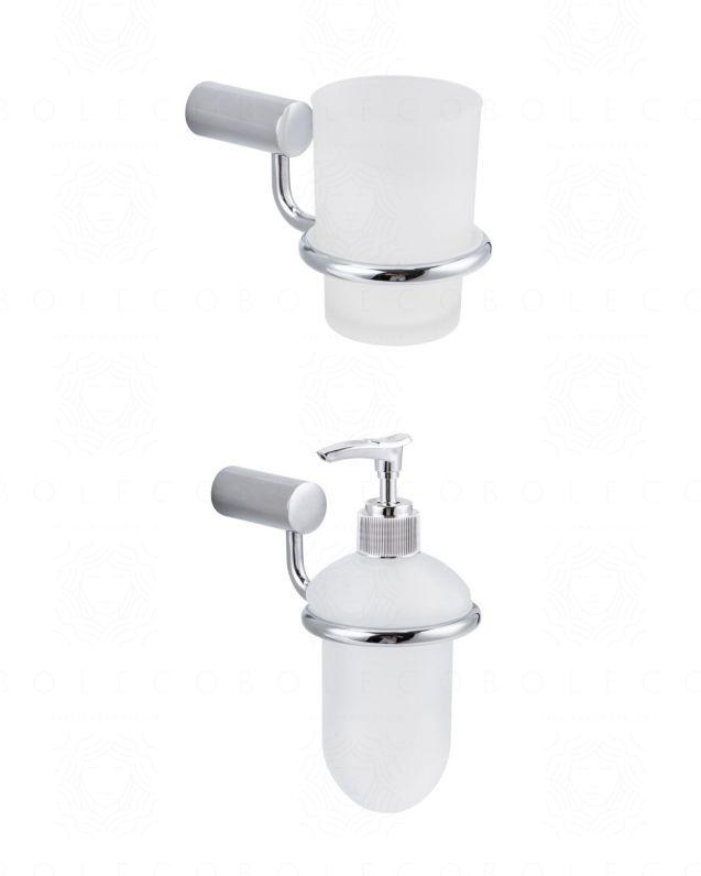 Set accessori Lisa, bicchiere e dispenser