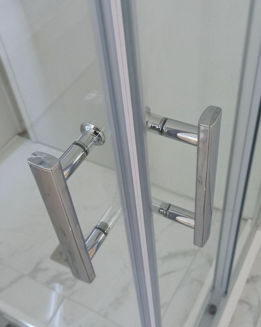 Box doccia quadrato vetro temperato 6 mm, cm.100x100