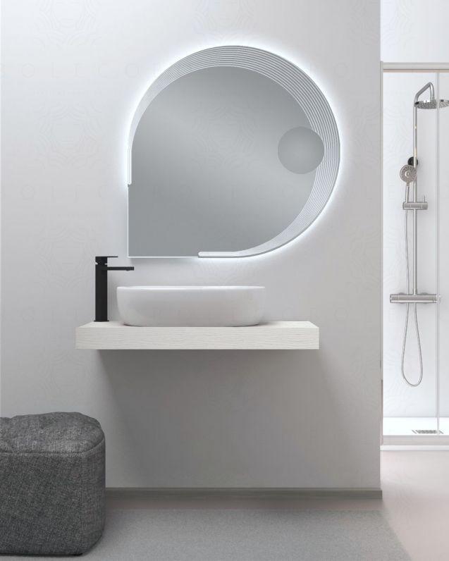 Mensolone bagno cm.90 con staffe regolabili